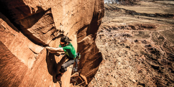 Andy Anderson climbing in Indian Creek, a cherished public lands recreation area. Photo- Tobias MacPhee
