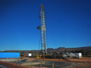 A drill rig near the Bears Ears