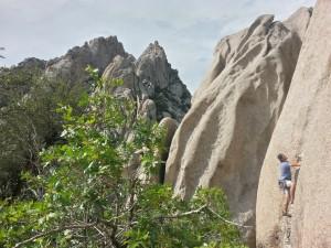 Josh Kitchen climbing near Never Never Land