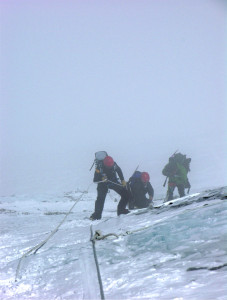 A second failed attempt climbing the Lhotse Face on Everest.
