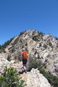 Hiking toward Fin